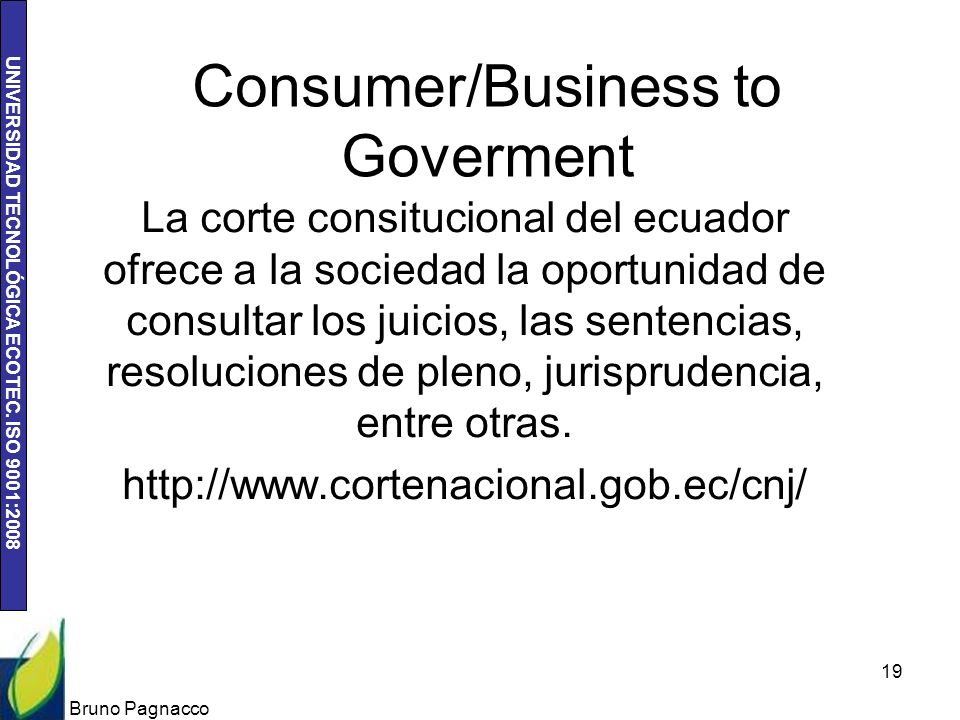 Consumer/Business to Goverment
