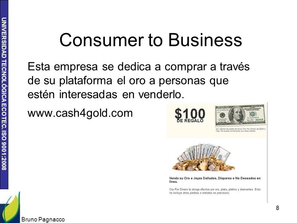 Consumer to Business Esta empresa se dedica a comprar a través de su plataforma el oro a personas que estén interesadas en venderlo.