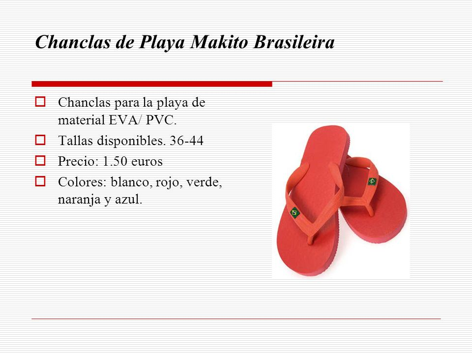Chanclas de Playa Makito Brasileira
