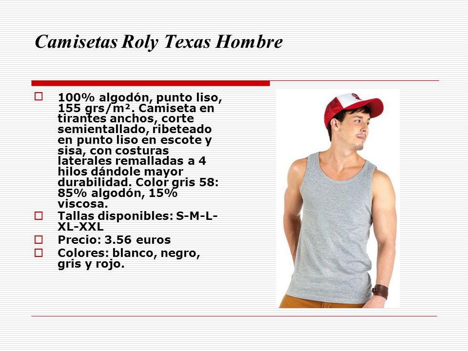 Camisetas Roly Texas Hombre