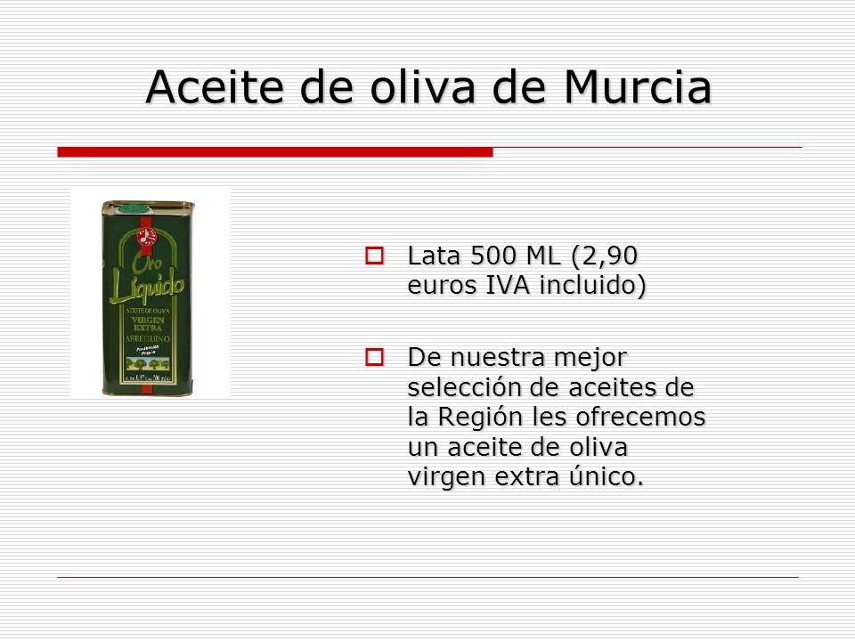 Aceite de oliva de Murcia