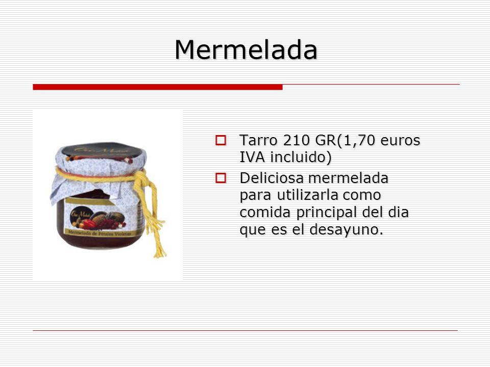Mermelada Tarro 210 GR(1,70 euros IVA incluido)