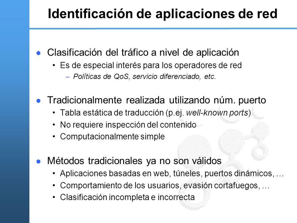 Identificación de aplicaciones de red