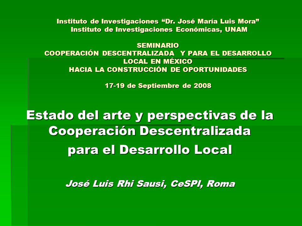Estado del arte y perspectivas de la Cooperación Descentralizada