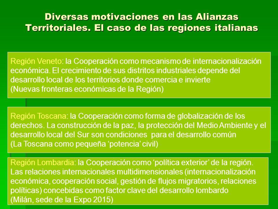 Diversas motivaciones en las Alianzas Territoriales