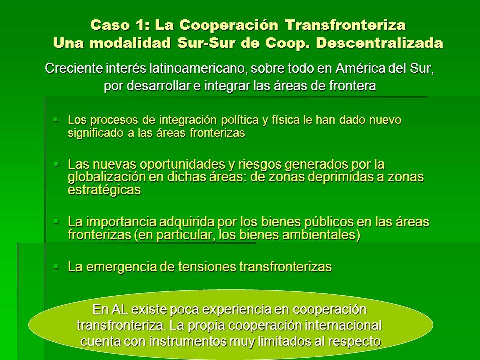 Caso 1: La Cooperación Transfronteriza Una modalidad Sur-Sur de Coop