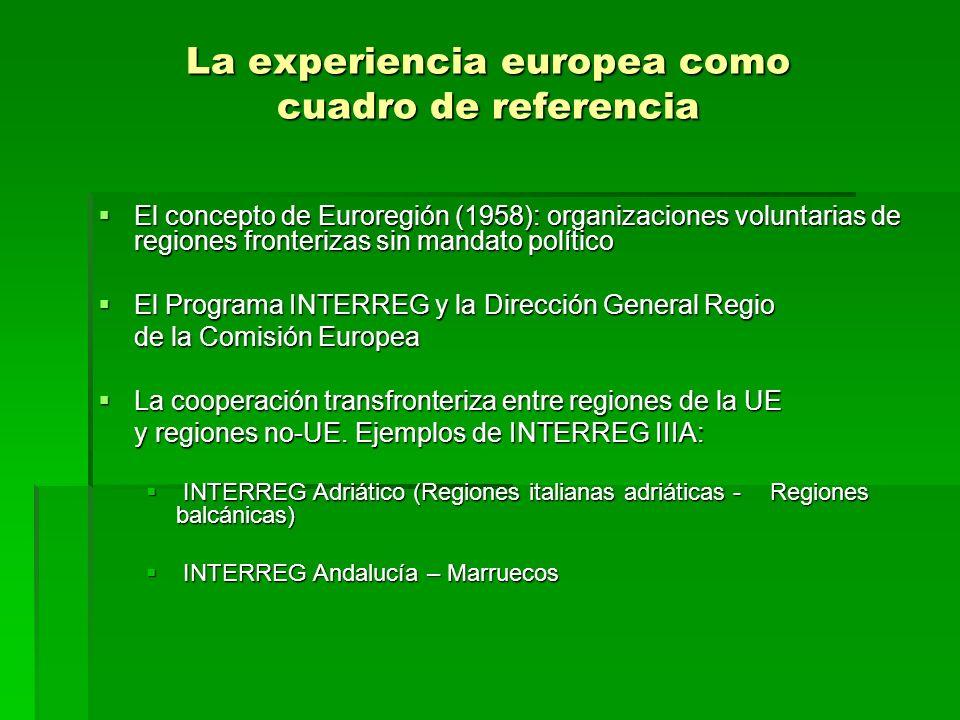 La experiencia europea como cuadro de referencia