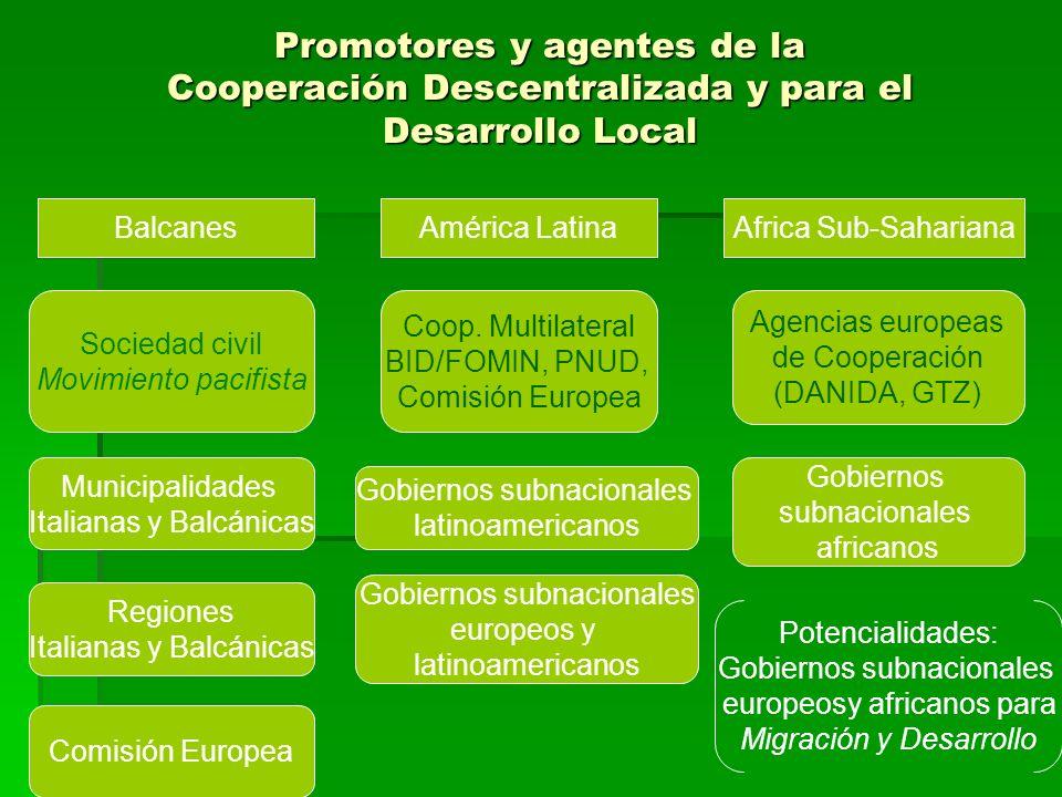 Promotores y agentes de la Cooperación Descentralizada y para el Desarrollo Local