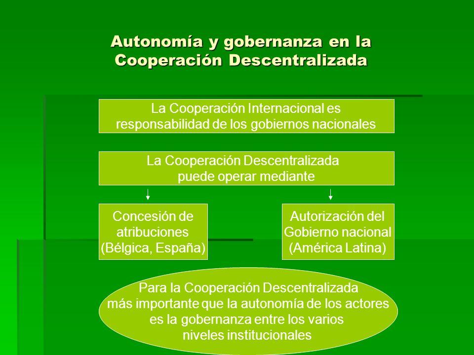 Autonomía y gobernanza en la Cooperación Descentralizada