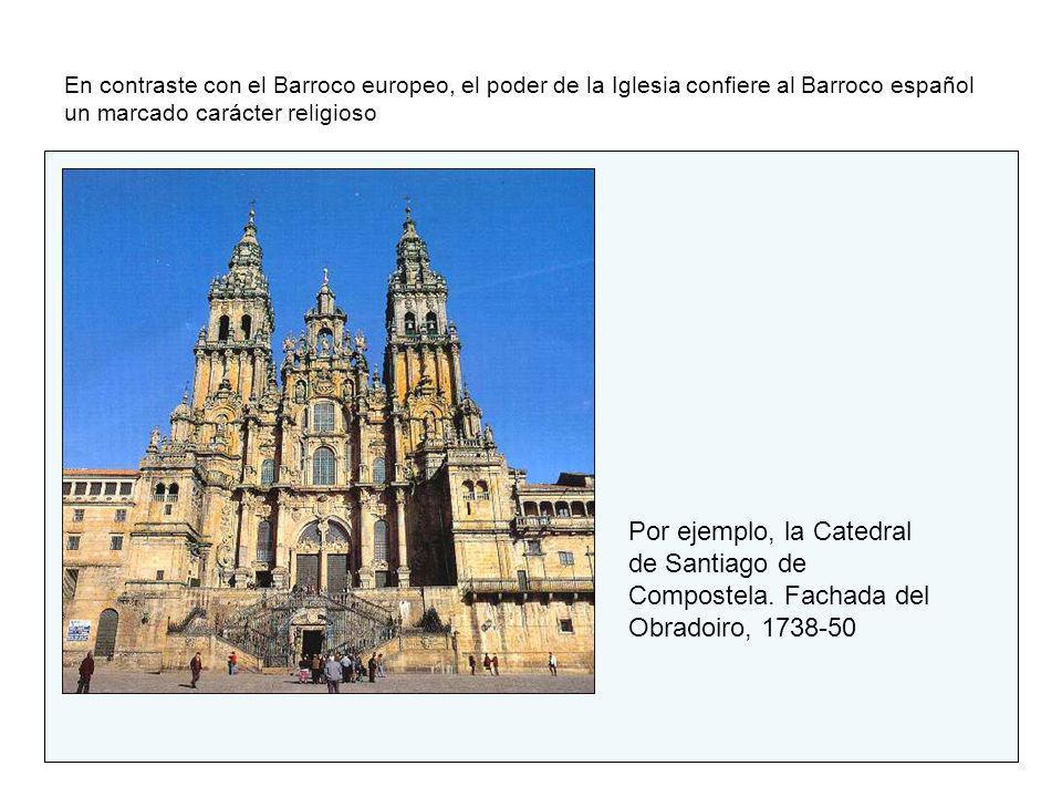 En contraste con el Barroco europeo, el poder de la Iglesia confiere al Barroco español un marcado carácter religioso