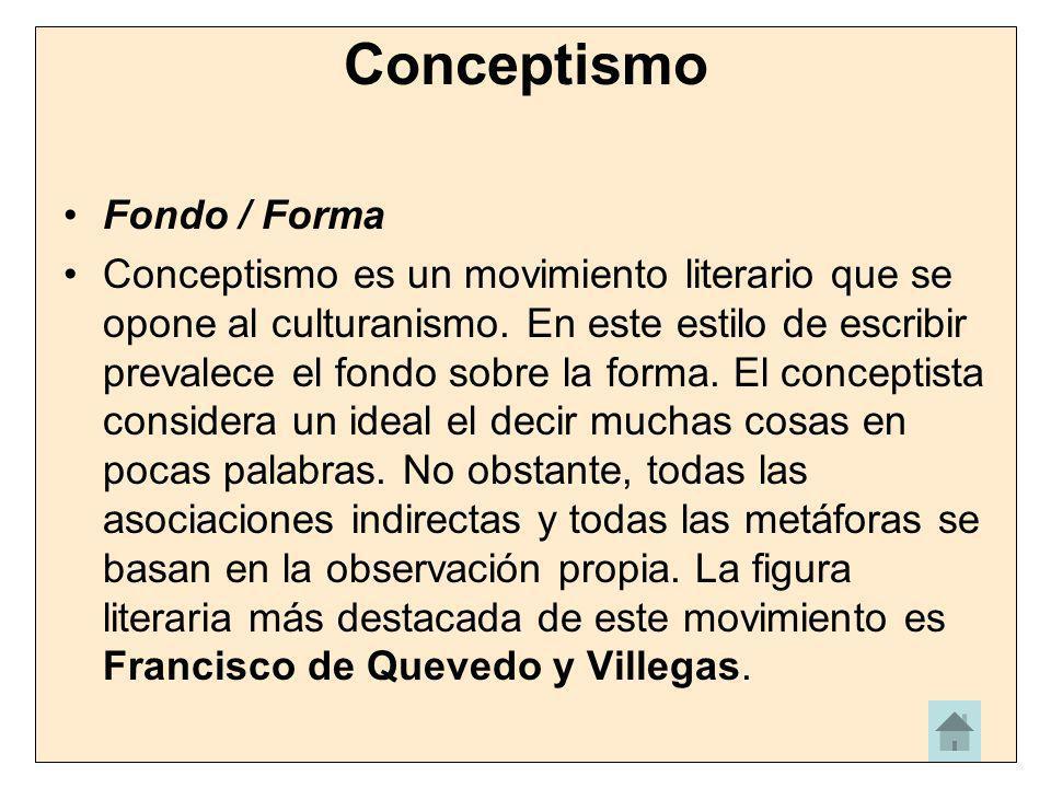 Conceptismo Fondo / Forma
