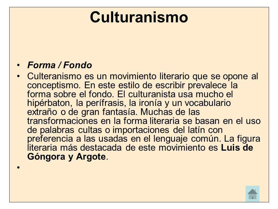 Culturanismo Forma / Fondo