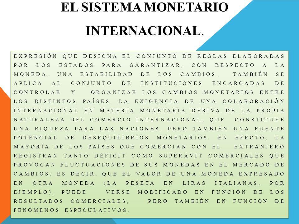 El Sistema Monetario Internacional.