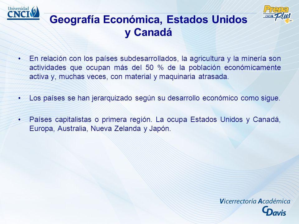Geografía Económica, Estados Unidos y Canadá