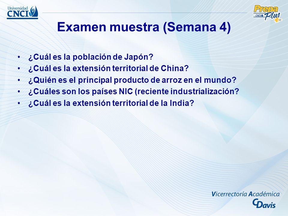 Examen muestra (Semana 4)
