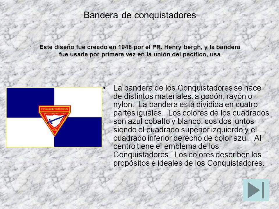 Bandera de conquistadores