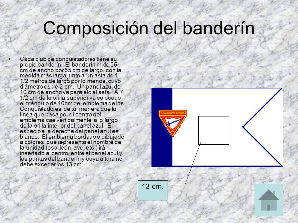 Composición del banderín