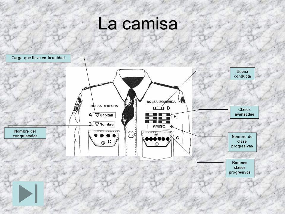 La camisa Cargo que lleva en la unidad Buena conducta Clases avanzadas