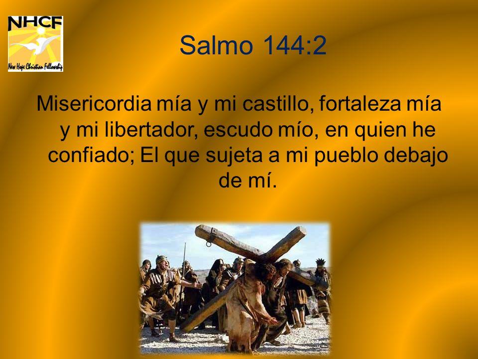 Salmo 144:2 Misericordia mía y mi castillo, fortaleza mía y mi libertador, escudo mío, en quien he confiado; El que sujeta a mi pueblo debajo de mí.
