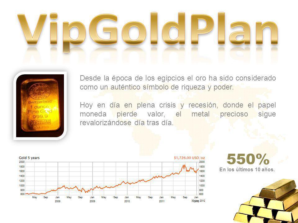 Desde la época de los egipcios el oro ha sido considerado como un auténtico símbolo de riqueza y poder.