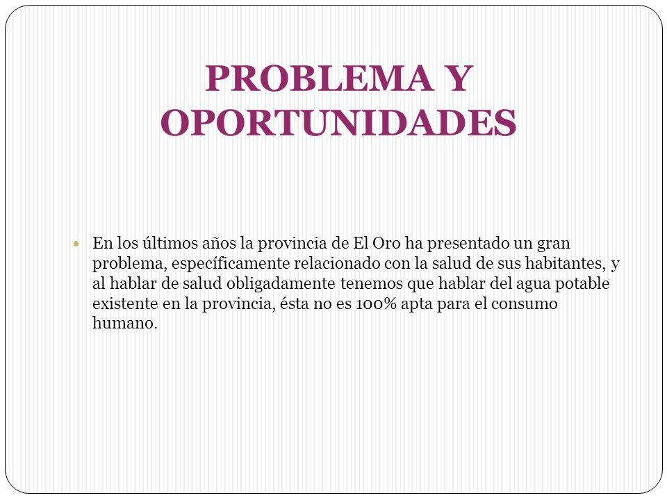 PROBLEMA Y OPORTUNIDADES