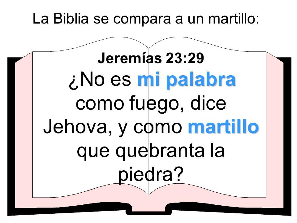 La Biblia se compara a un martillo:
