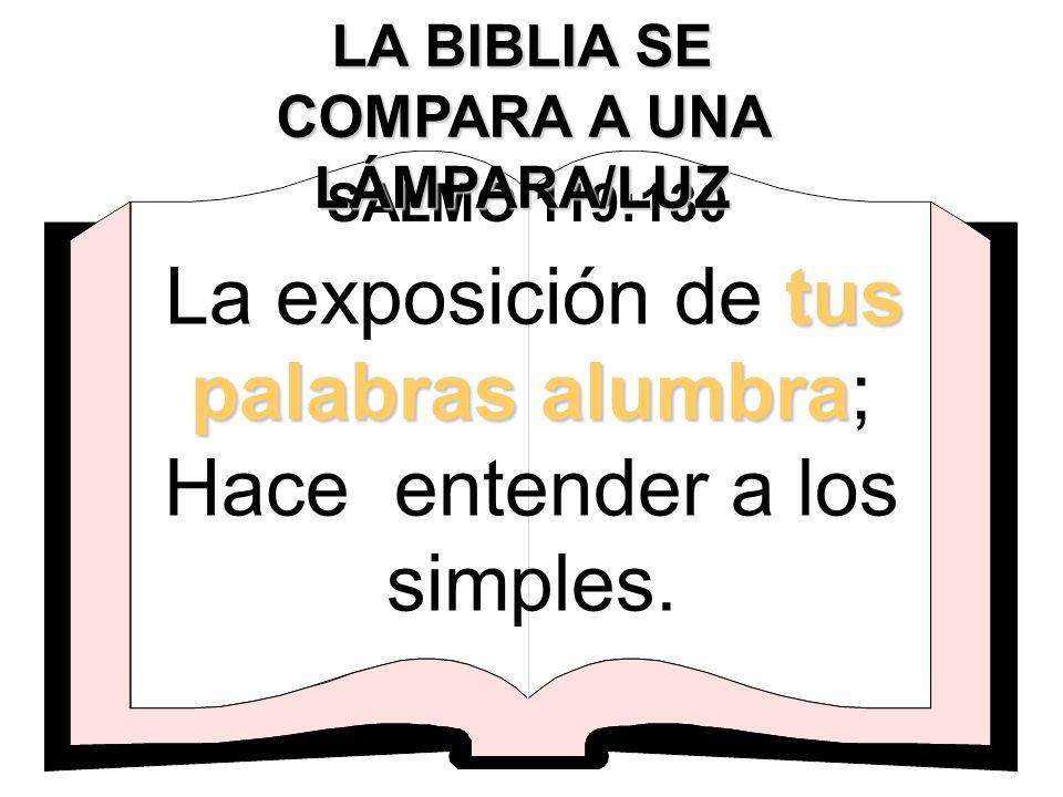 LA BIBLIA SE COMPARA A UNA LÁMPARA/LUZ