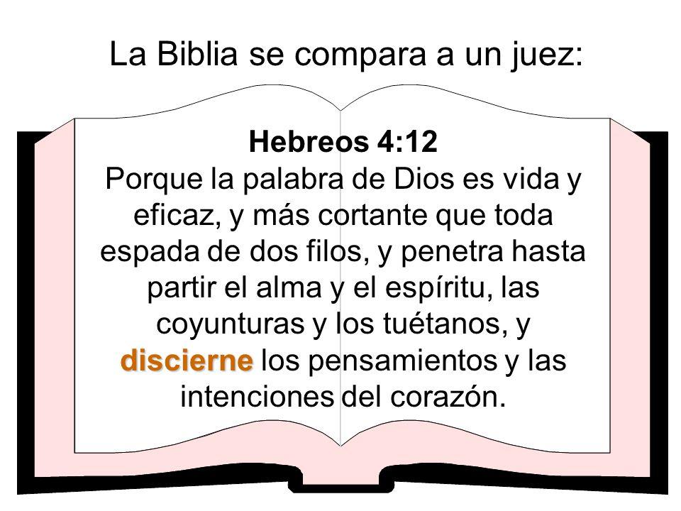 La Biblia se compara a un juez: