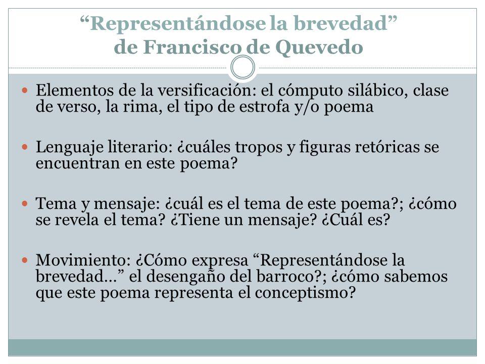 Representándose la brevedad de Francisco de Quevedo