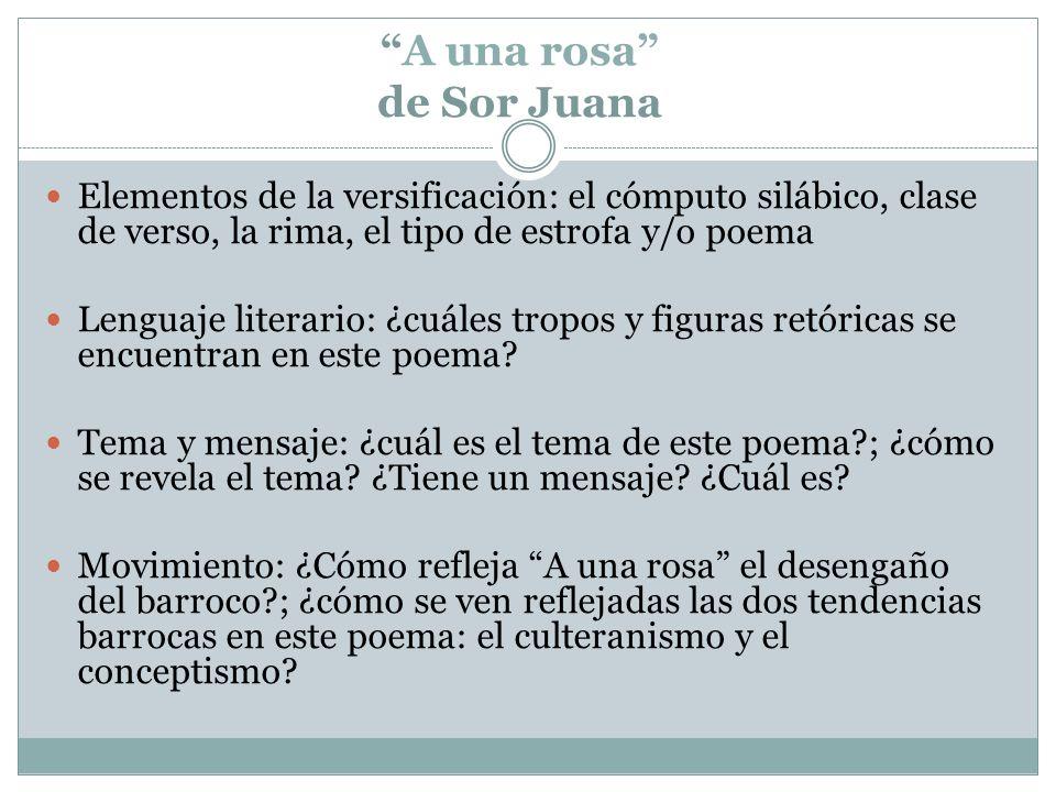 A una rosa de Sor Juana