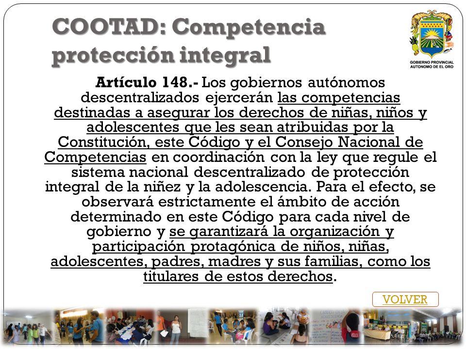 COOTAD: Competencia protección integral