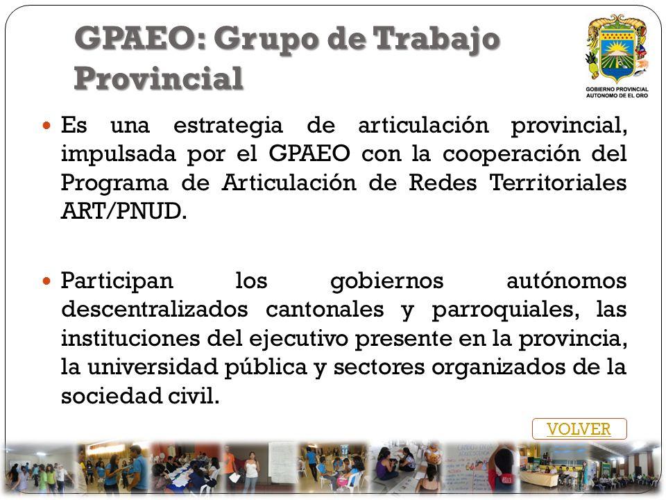 GPAEO: Grupo de Trabajo Provincial