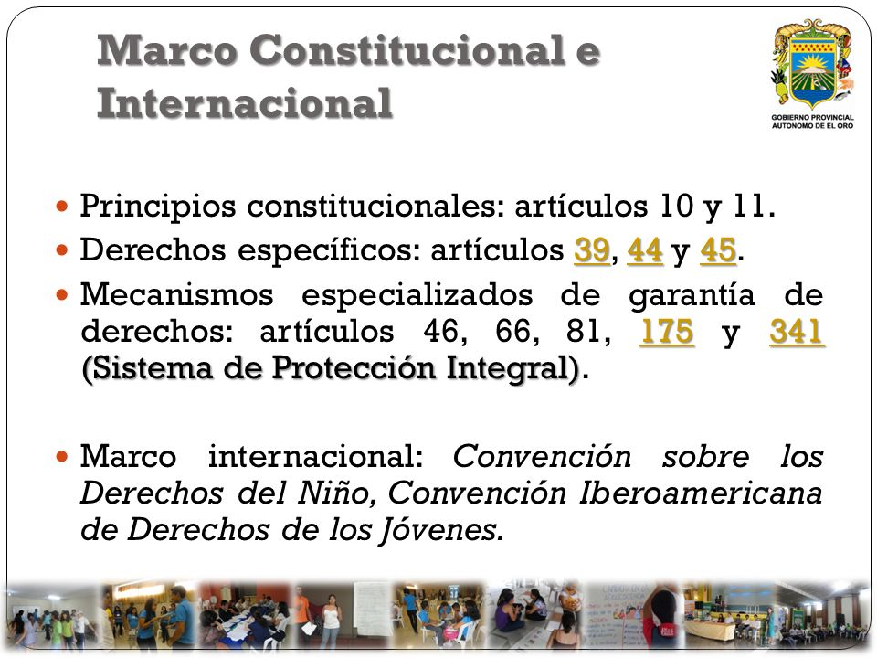Marco Constitucional e Internacional