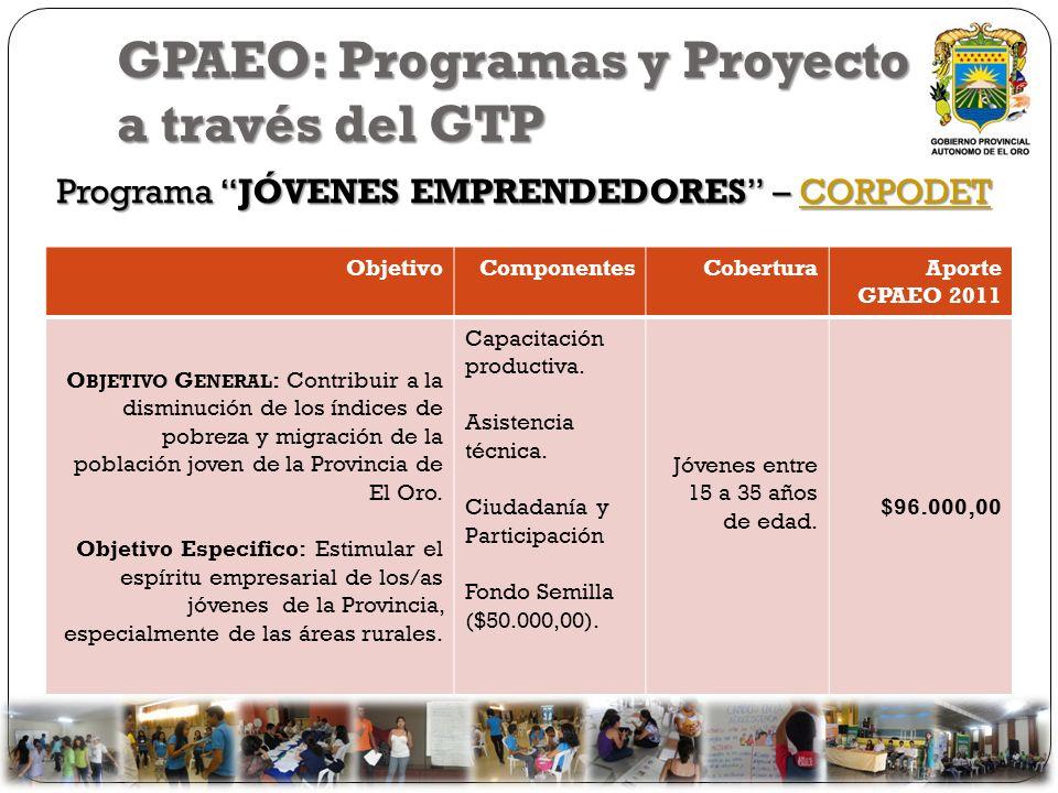 GPAEO: Programas y Proyecto a través del GTP