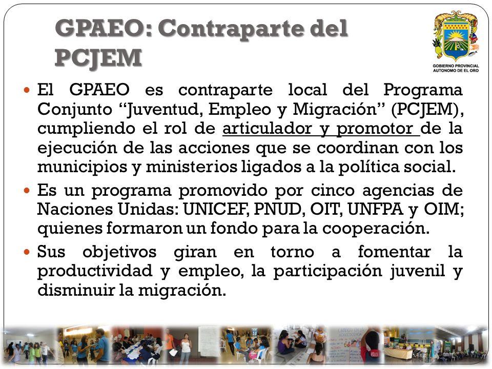 GPAEO: Contraparte del PCJEM