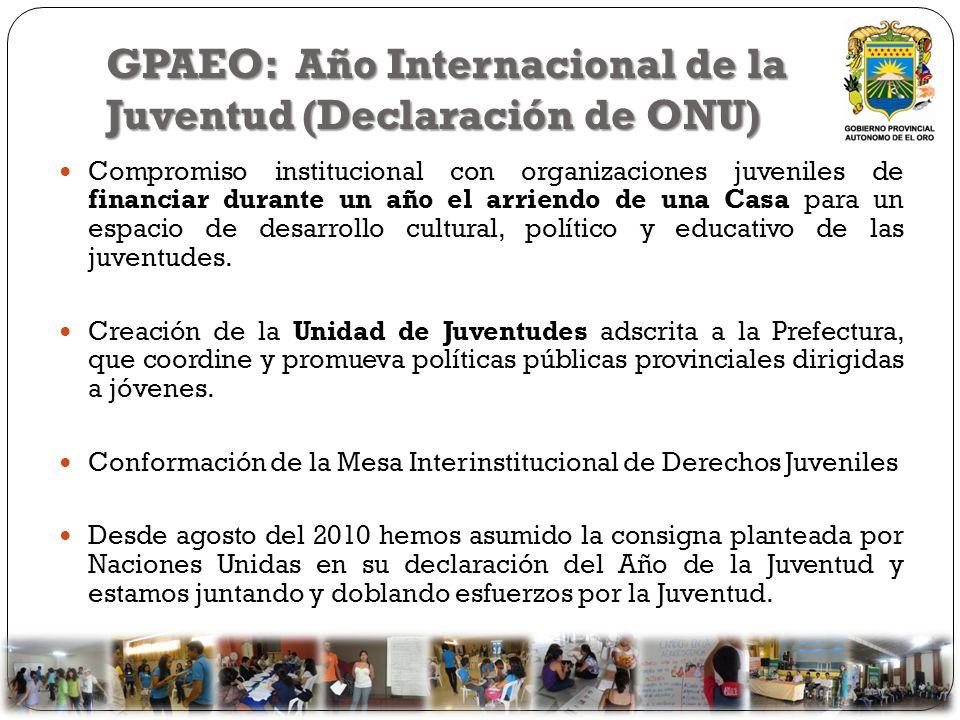 GPAEO: Año Internacional de la Juventud (Declaración de ONU)