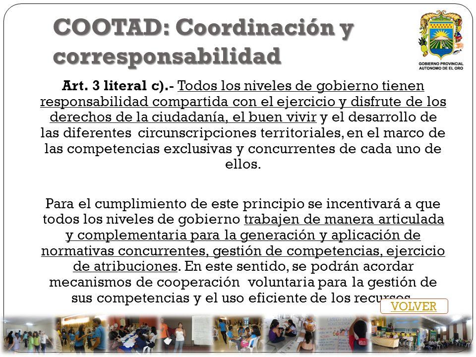 COOTAD: Coordinación y corresponsabilidad