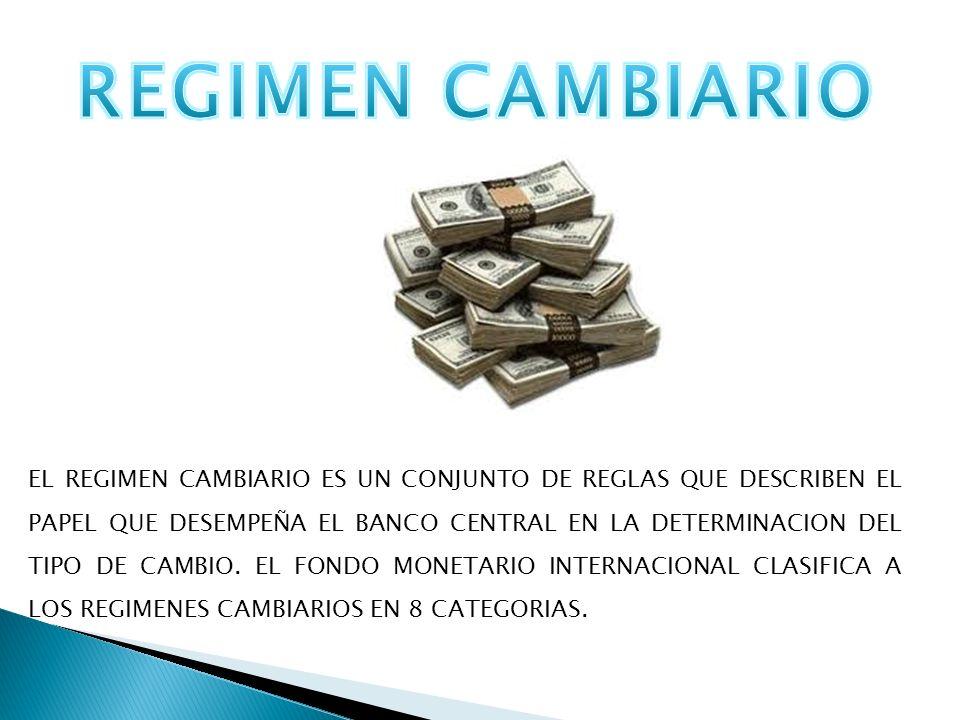 REGIMEN CAMBIARIO