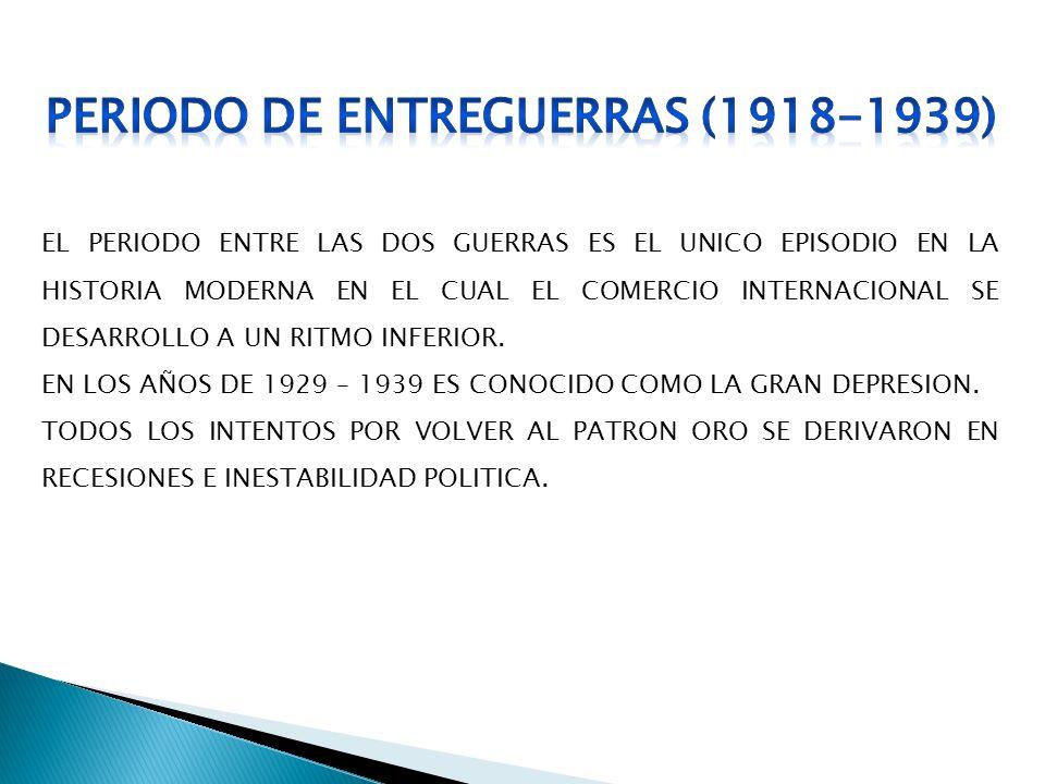 PERIODO DE ENTREGUERRAS (1918-1939)