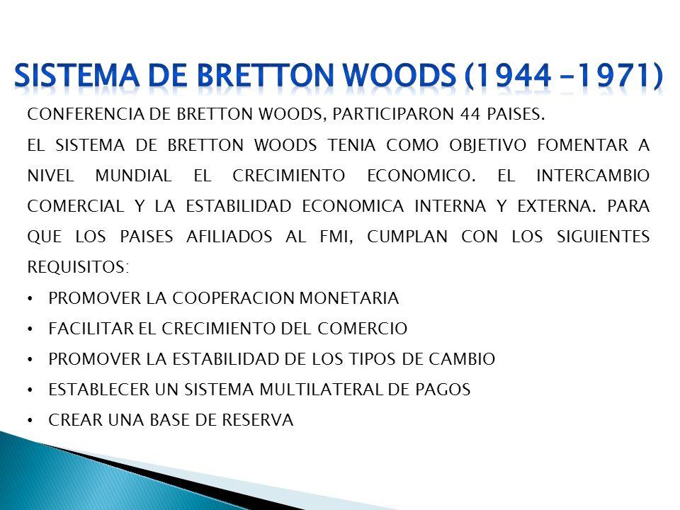 SISTEMA DE BRETTON WOODS (1944 –1971)