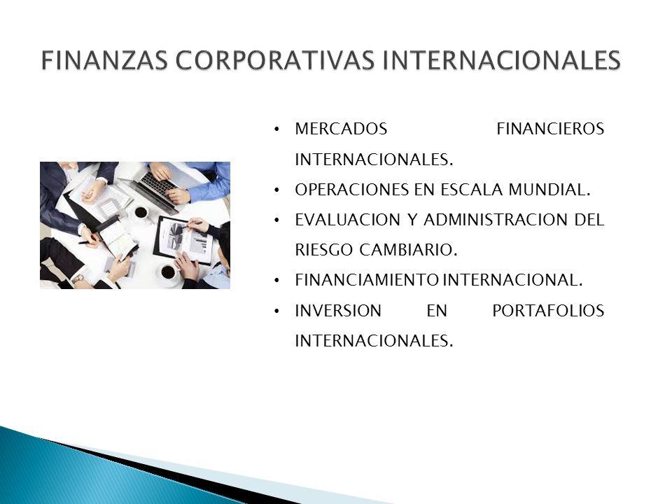 FINANZAS CORPORATIVAS INTERNACIONALES