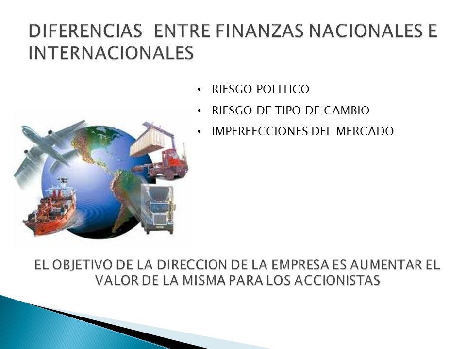 DIFERENCIAS ENTRE FINANZAS NACIONALES E INTERNACIONALES