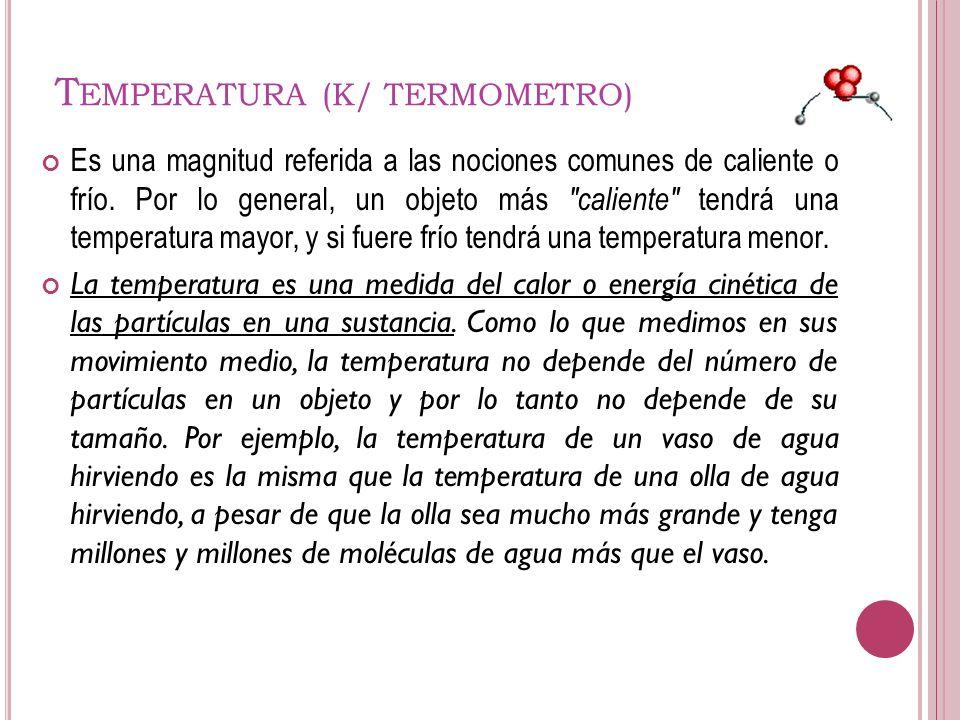 Temperatura (K/ TERMOMETRO)