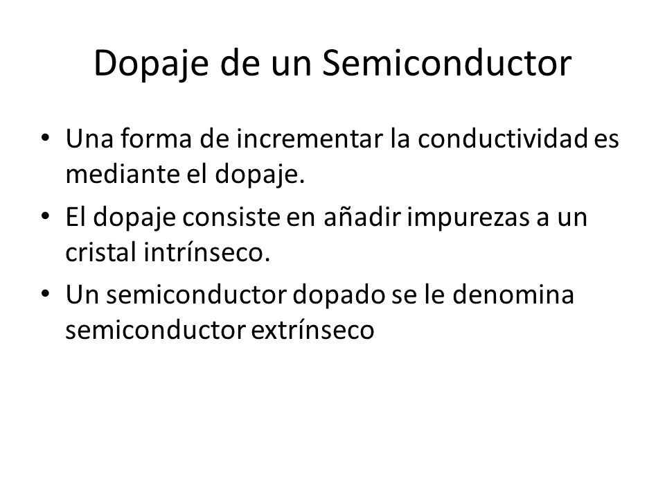 Dopaje de un Semiconductor