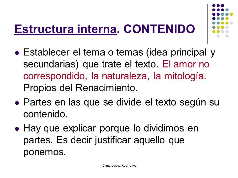 Estructura interna. CONTENIDO