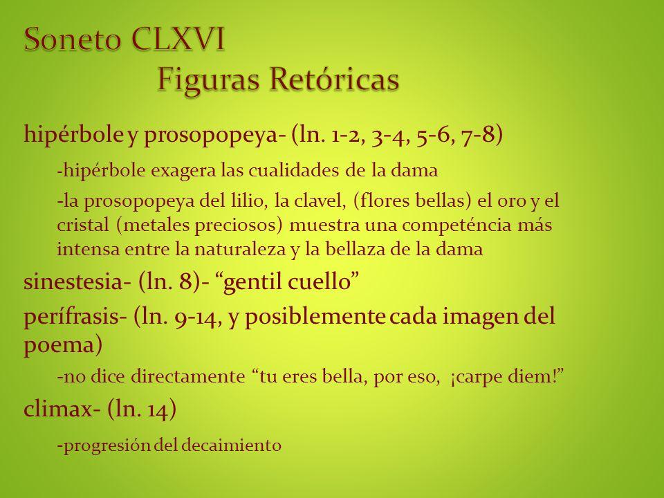 Soneto CLXVI Figuras Retóricas