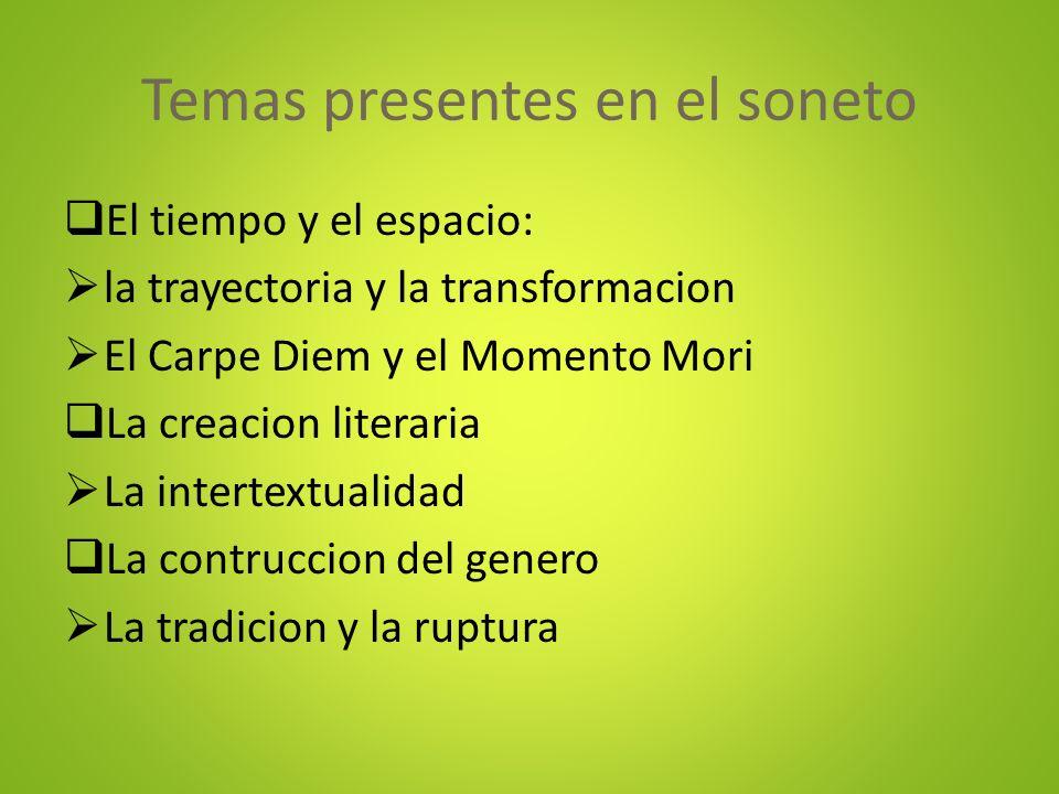 Temas presentes en el soneto