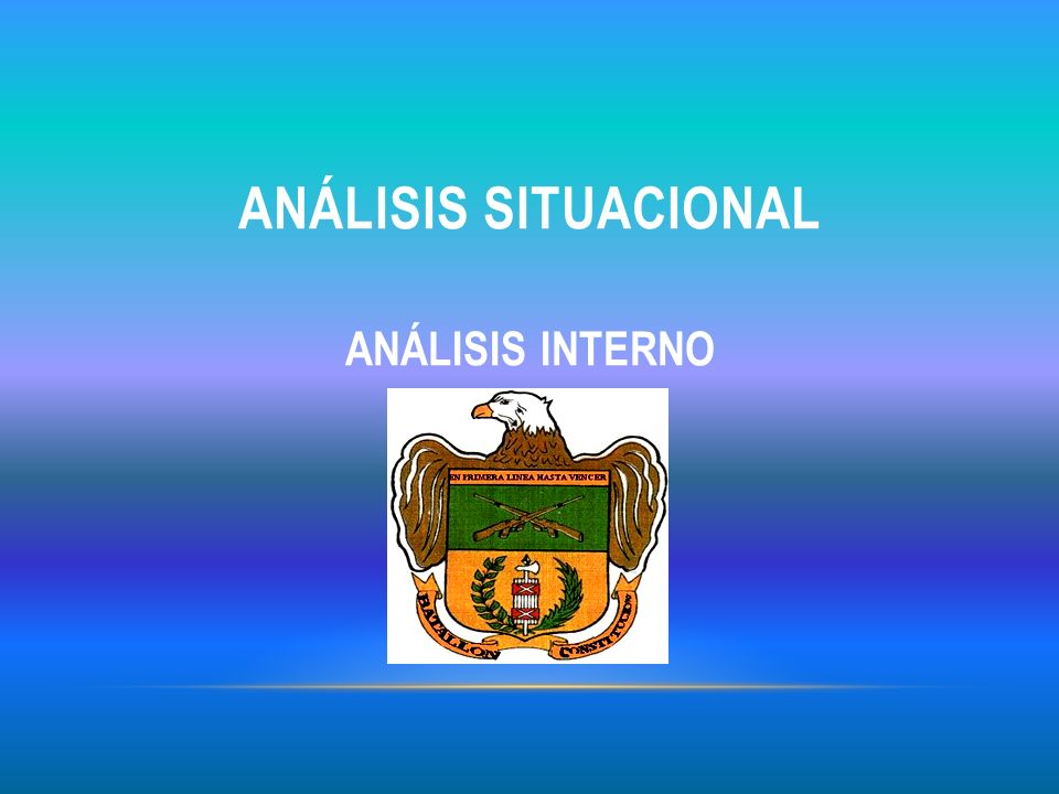 Análisis situacional ANÁLISIS INTERNO