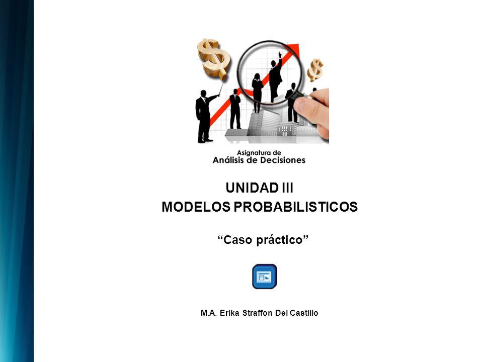 UNIDAD III MODELOS PROBABILISTICOS