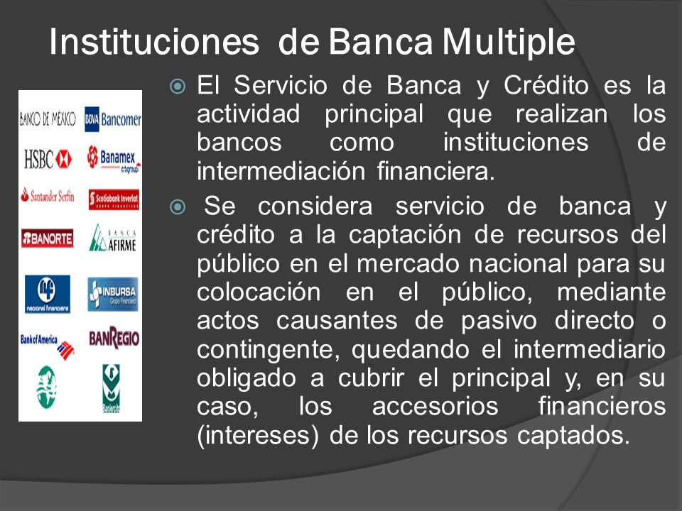 Instituciones de Banca Multiple